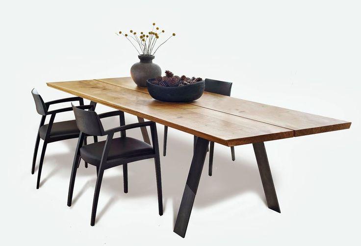 Table de repas Plank bois massif allongeable 8 a 14 P Non : Tables de repas design Naver - Design Ikonik