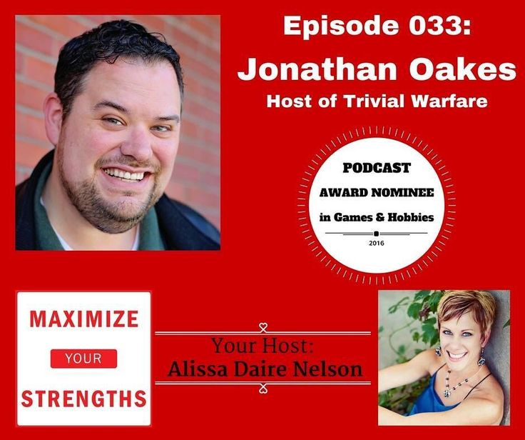 What an amazing and engaging conversation! You gotta listen to this one! Jonathan Oakes is awesome! http://ift.tt/2bfPxKi  #strengths #maximizeyourstrengths #podcast #coach #success #trivialwarfare