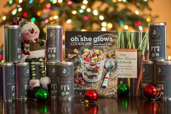 So excited to share the oh she glows holiday give away!! Angela Liddon is such an inspiration- if you haven't checked out her blog you are missing out.