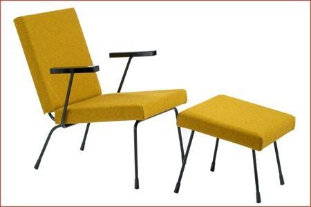 Voor het ontwerp van deze Gispen fauteuil  werkte Wim Rietveld intensief samen met Andre R. Cordemeyer.