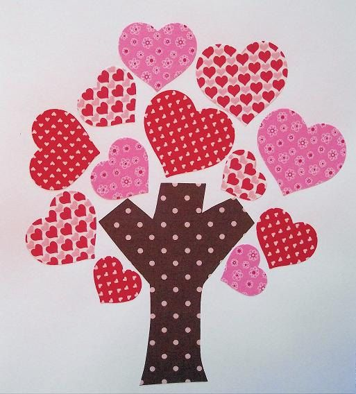 Valentine's Day Fabric Applique-Iron or Sew On-Heart Tree. $3.75, via Etsy.