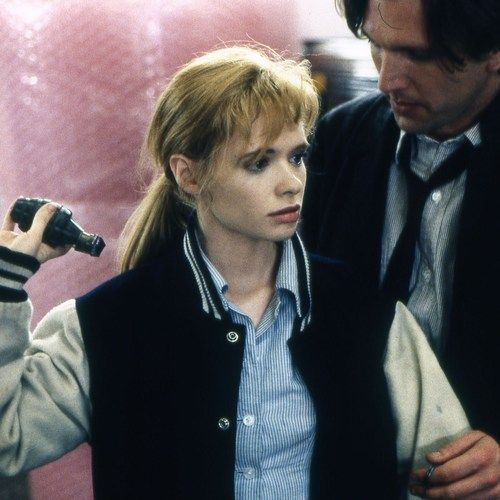 Adrienne Shelly and Martin Donovan in Trust by Hal Hartley. Awesome movie, actors and director. This links to a song in the end sequence of the movie.
