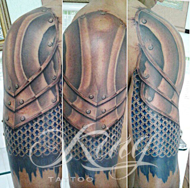17 best images about king tattoo on pinterest studios for Medieval armor tattoo