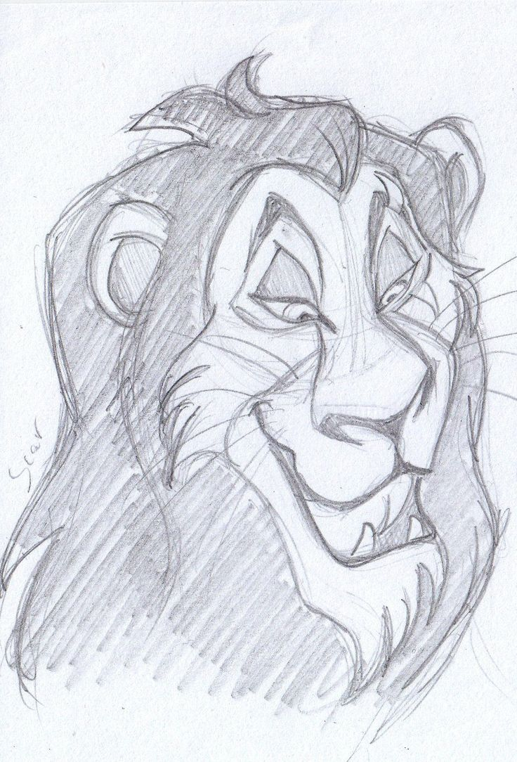 disney sketch - scar, the lion king 1994