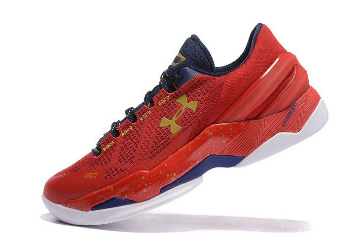 Free Shipping Only 69  Under Armour Curry Two 2 Low Floor General  University Red Navy f3ead4471