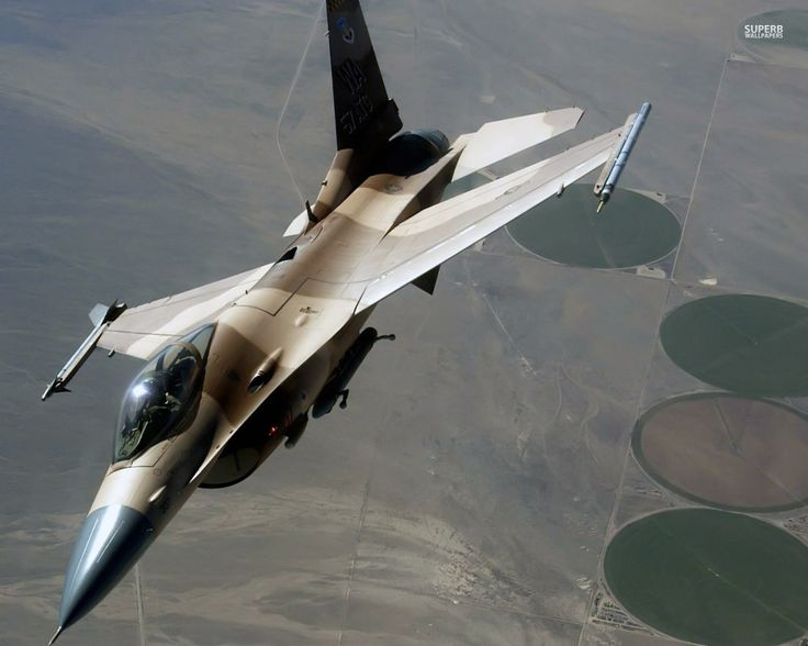 Camouflaged General Dynamics F-16 Fighting Falcon