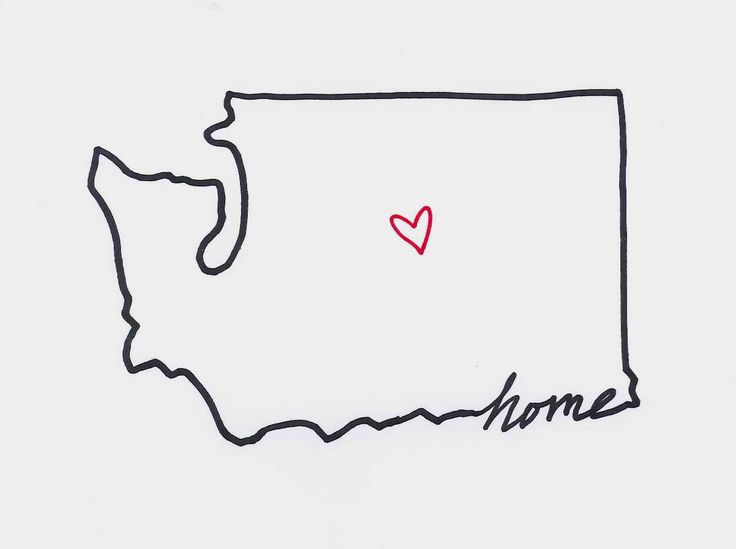 Washington state tattoo #home