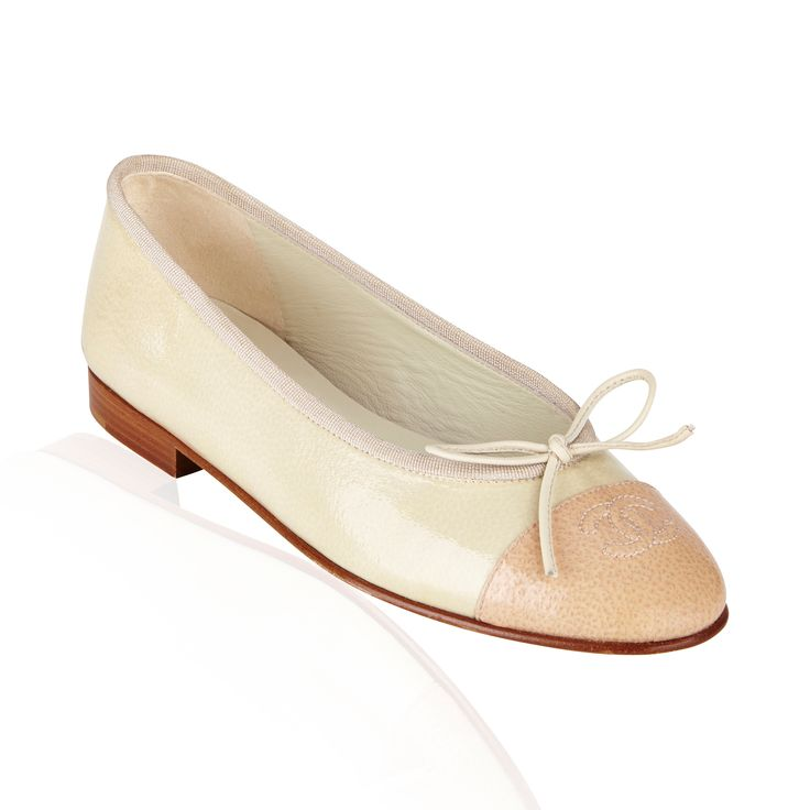 Beige/Mint Green Leather Flat - Chic  fun Chanel Elastic Ballet Flats are a stylish addition for every wardrobe. This is a timeless style that any fashionista would not want to miss!