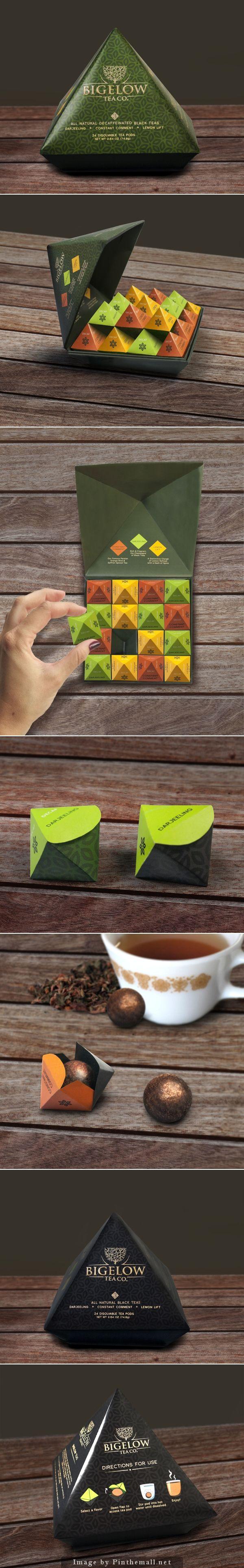 Bigelow Tea Rebrand (student work by Brielle Wilson) -