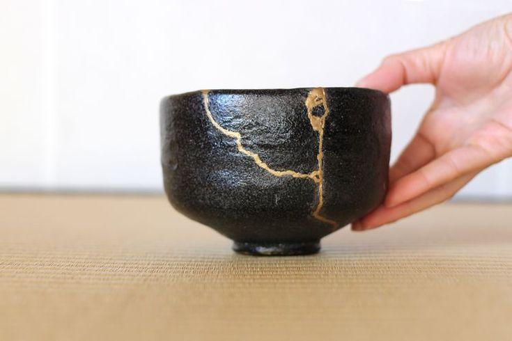Japanese Art Modern, Ancient Japanese Art, Kintsugi, Wabi Sabi, Chinese Tea, Japanese Pottery, Tea Bowls, Old Art, Diy Clay