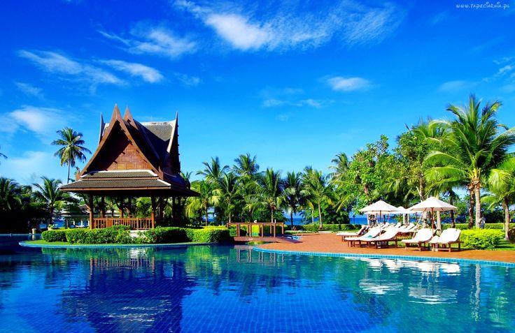 Hotelowy, Basen, Ogród, Altana, Ocean, Wakacje