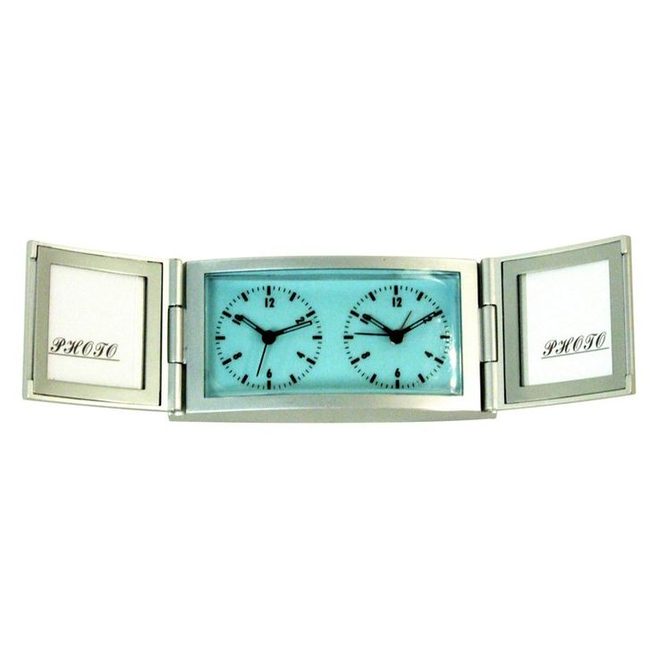 Travel Alarm Clock with Double Photo Frame - Control Brand MCM - 2160