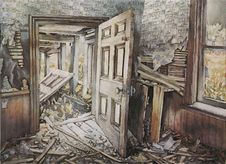 Back Door (1954) watercolour Eric Freifeld