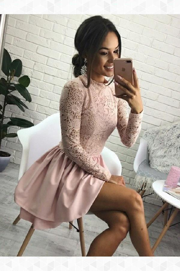 Outlet Morden Pink, Lace, Short, Cute