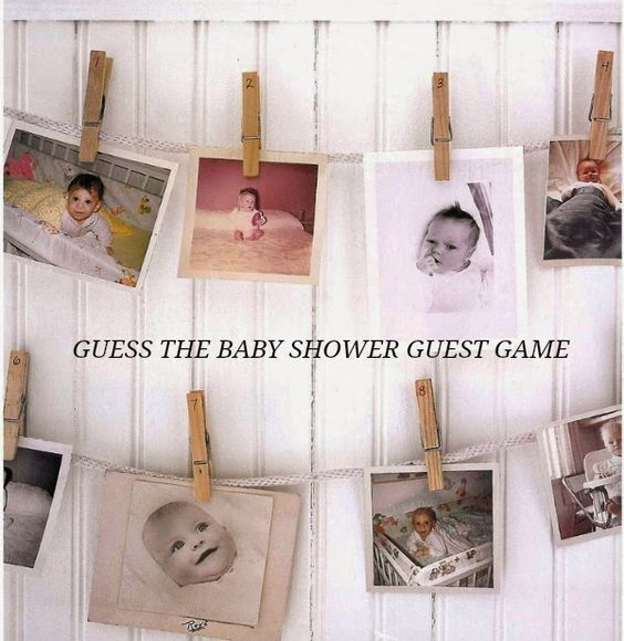 Ask your guests to send over their own baby pictures ahead of time, and then have a game of guessing who is who! Gah, the cuteness.Found on Pinterest here, from Raising Miss Matilda.