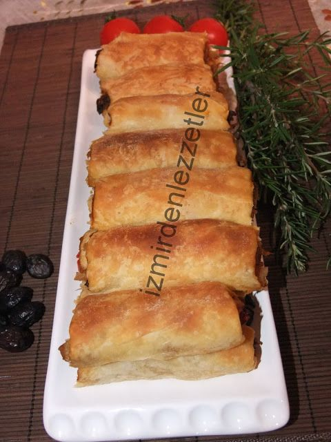 Patlıcanlı Börek (Elde Açma)   İzmirdenlezzetler