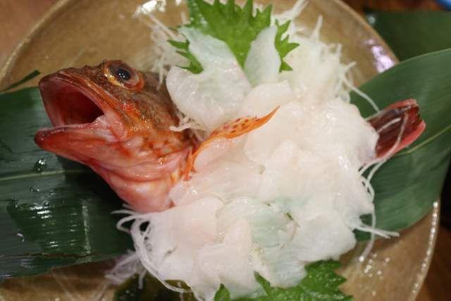 魚魚魚のカサゴ刺身