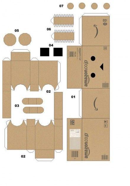 Cara Membuat Boneka Danbo : membuat, boneka, danbo, Danbo, Kardus:, Membuat, Boneka, Lengkap, Kotak, Kertas,, Kardus,, Kertas