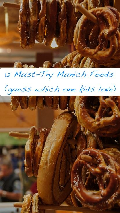 12 foods to look for in Munich restaurants, beer gardens and at the famous Viktualienmarkt. These Bavarian specialties are recommended by locals and kids will eat them too. #munich #food #kids