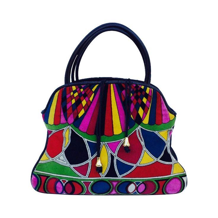 retro printed shoulder bag - Black Emilio Pucci E71UiNkA
