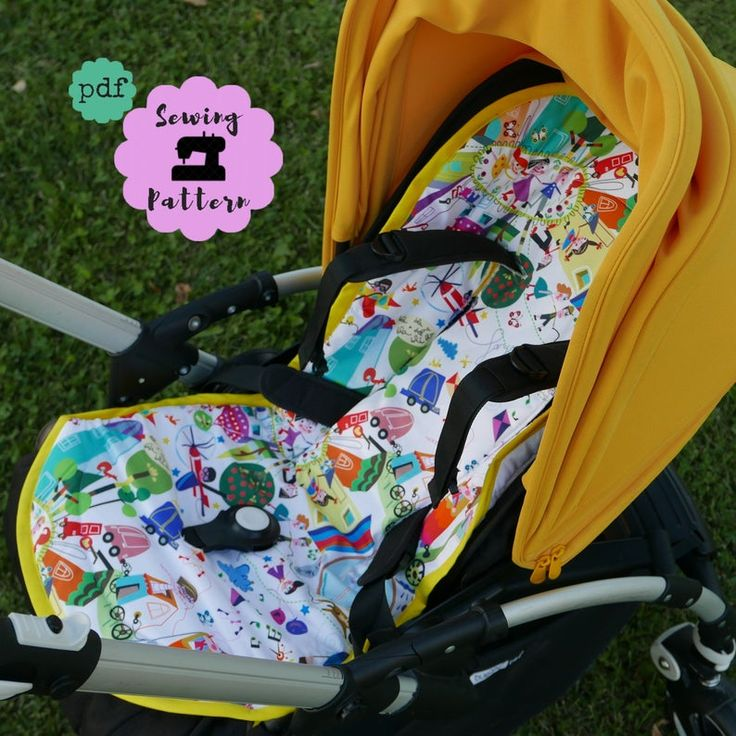 Universal seat liner for Bugaboo strollers , PDF Pattern