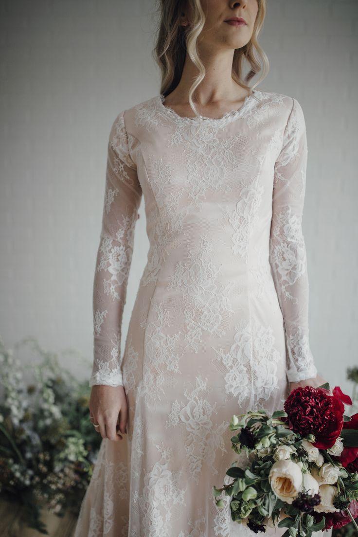 177 best elizabeth cooper design original collection for Long sleeve blush wedding dress