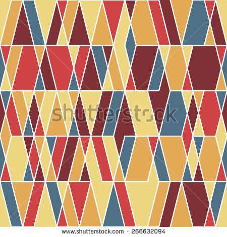 Vintage seamless pattern with rhombuses and triangles. #geometricpattern #vectorpattern #patterndesign #seamlesspattern