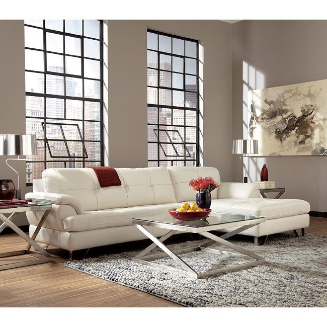 Gunter brilliant white sectional set stylish living rooms