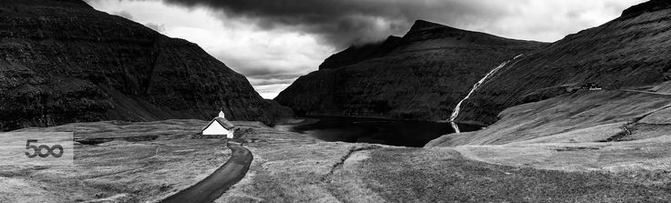 The valley of Saksun in the Faroe Islands.