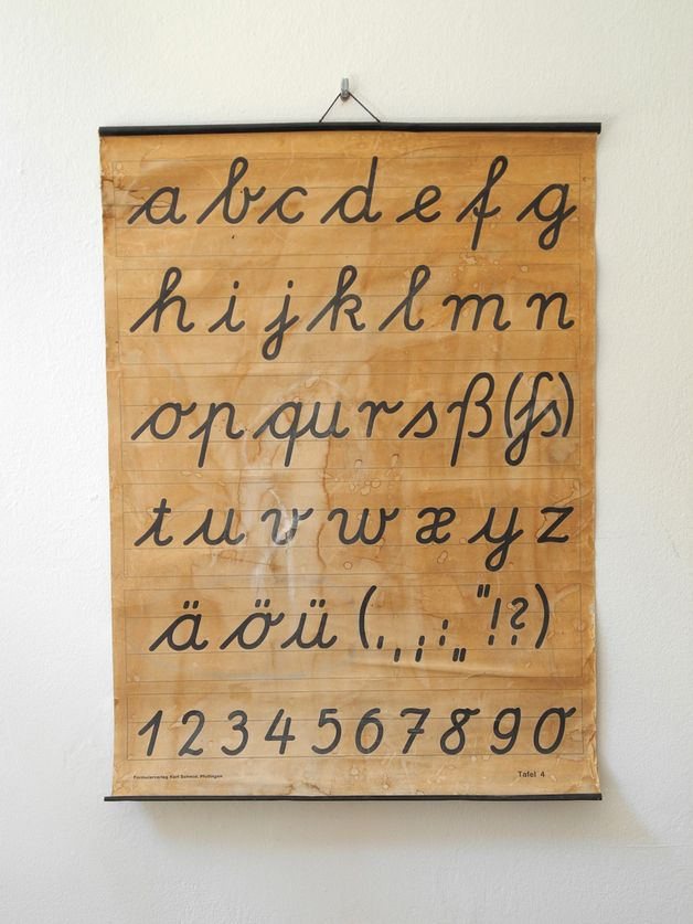 50er Jahre Vintage Buchstaben Lehrkarte // vintage 50s school teaching aid by RetroRaum via DaWanda.com