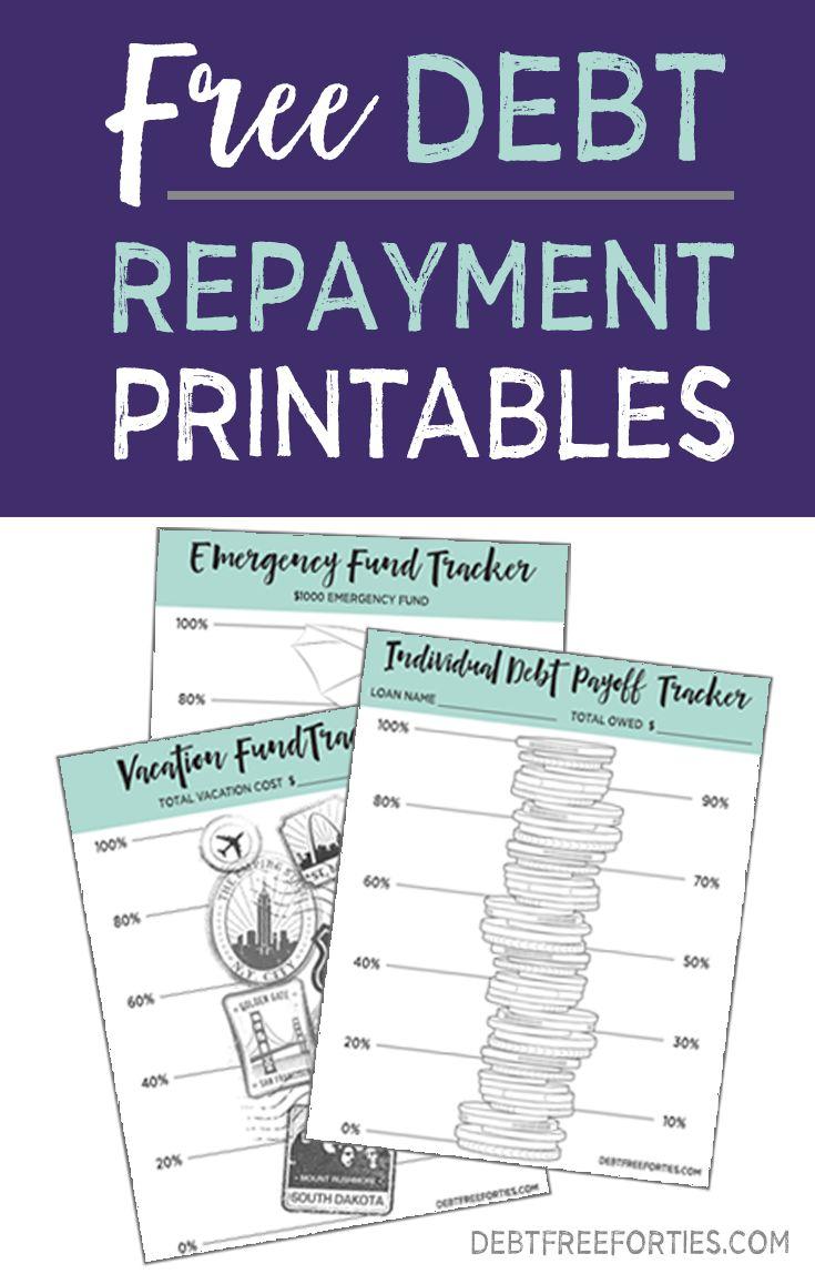 free debt tracker printable