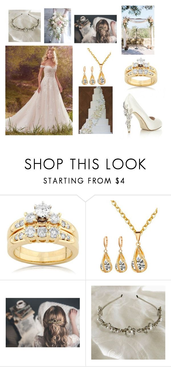 """Lucy"" by anafreitas-1 ❤ liked on Polyvore featuring Maggie Sottero, HARRIET WILDE and Kobelli"