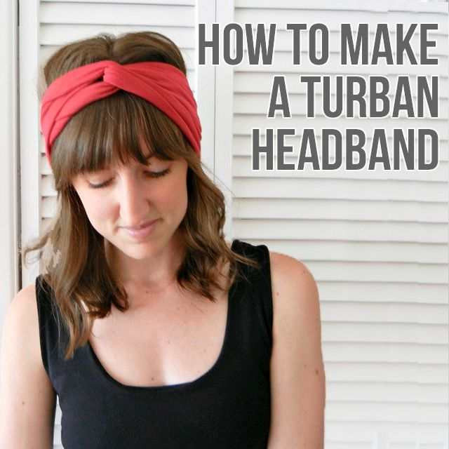 Sew up an easy turban headband for a lightweight versatile accessory. This tutorial is perfect for beginners, too!