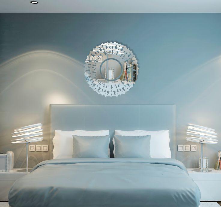 Dekorační kruhové zrcadlo do moderního interiéru