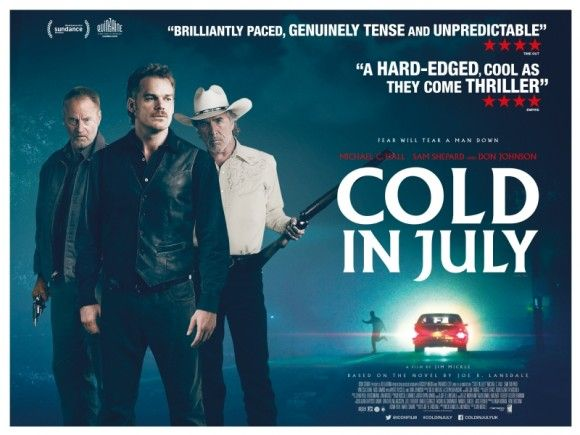It's a hot night in Texas circa 1989 when Cold in July opens with every audience member's worst nightmare. Richard Dane, played by Dexter actor Michael C. Hall, is asleep in bed with his wife, his young son in the next room, when he is awakened by strange noises in the house.
