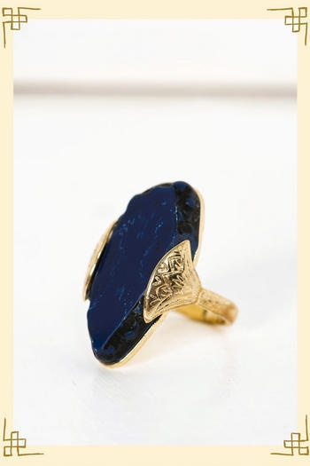 Beautiful Egyptian blue ring