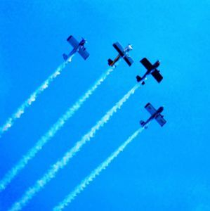4 Planes over Lake Michigan