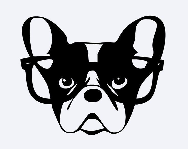 Sonderling französische Bulldogge Hipster von ...