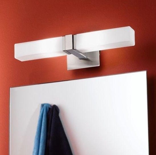 Απλίκα τοίχου - φωτιστικό μπάνιου πολύφωτο (δίφωτο) με βάση από ατσάλι σε σατινέ νίκελ και γυαλί οπαλίνα λευκό. PALERMO από την Eglo. --------------------------------- Wall lamp (two-sided), with steel base in satin nickel color and white glass. #bathroom #bathroomdesign #bathroomideas #bathroomgoals #bathroomlighting #lamp #lighting #light #lightingdesign #lightroom