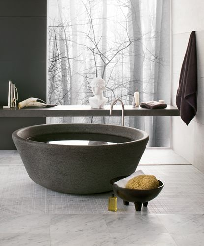 Modern bath tub inspiration by COCOON | freestanding bath tubs | solid surface…