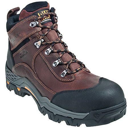 Ariat Boots Men's Brown Composite Toe Waterproof Workhog Boots 10011958,    #Ariat,    #10011958,    #Men'sBoots