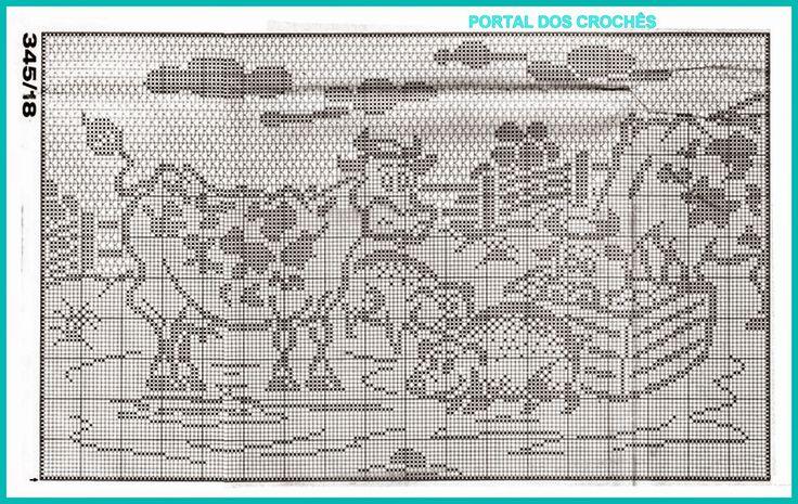 PORTAL DOS CROCHÊS: CORTINA DE CROCHÊ