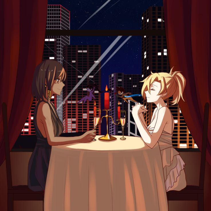 It was supposed to be a quiet dinner alone for Mercy and Pharah... #overwatch https://twitter.com/NyaSa_AK