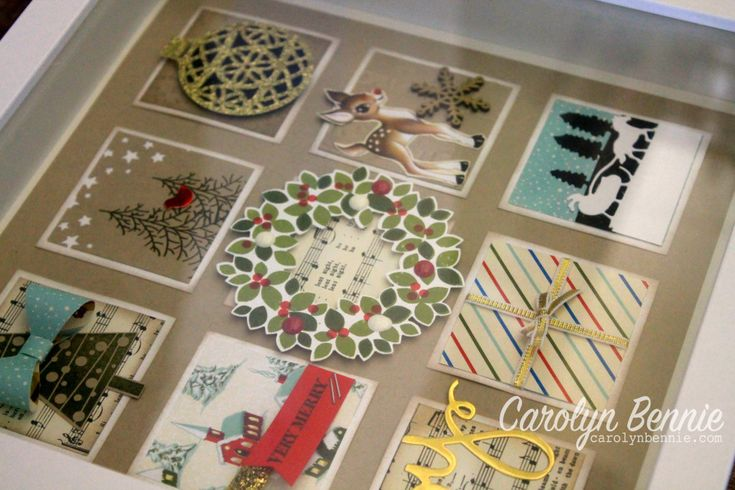 Teachers gift frames made with the Holiday Catalogue Stampin' Up! - Carolyn Bennie Independent Stampin' Up! Demonstrator carolynbennie.com