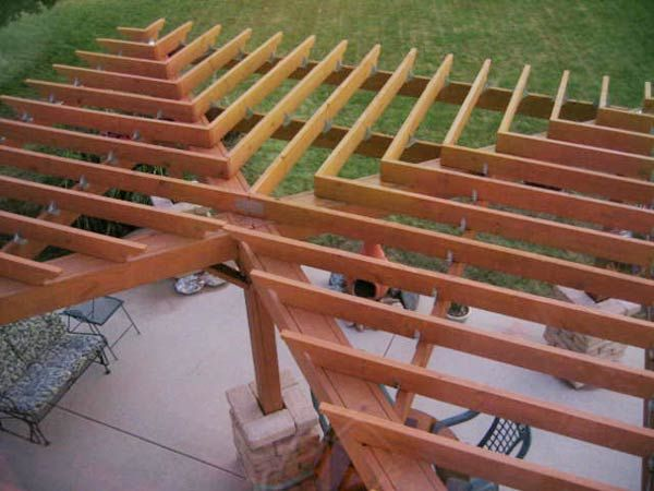We're impressed with the top-down view of this reader's DIY pergola.  You'll have to click here for the rest of story!   thisoldhouse.com