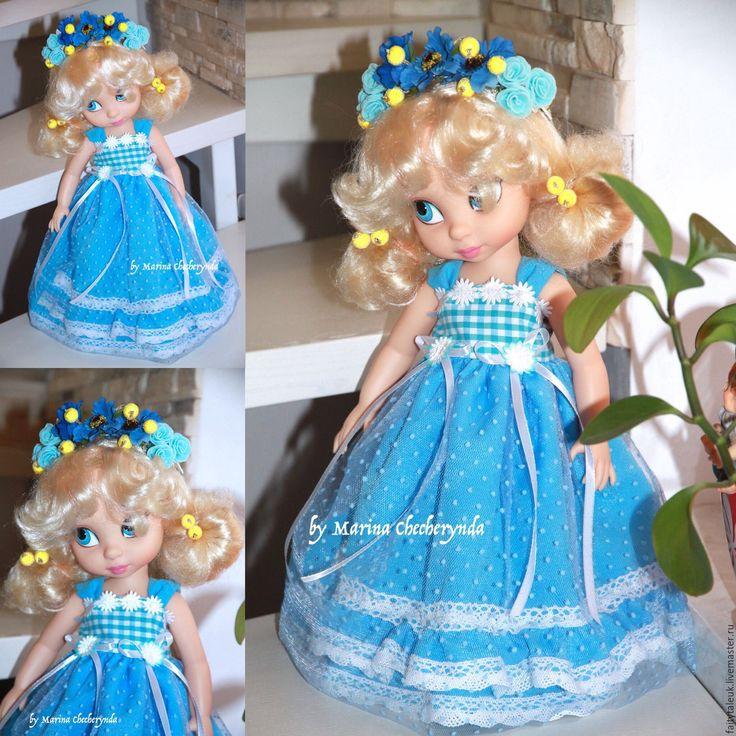 Купить или заказать Платье для куклы Дисней в интернет-магазине на Ярмарке Мастеров. Платье принцессы плюс венок на голову. Также можно заказать в другом цвете. В наличии много красивых тканей и обуви. Пишите мне на почту …