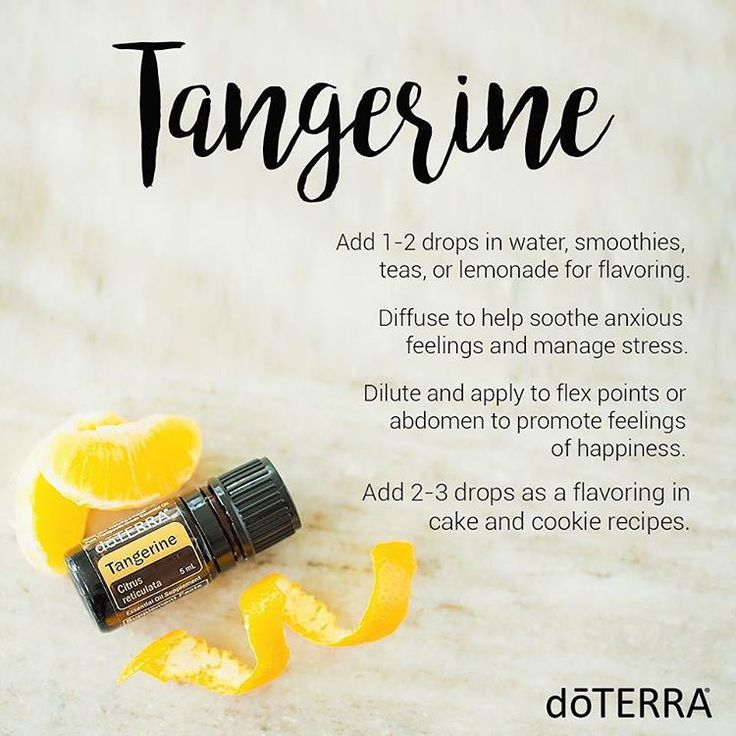 Tangerine essential oil can be used to help soothe anxious feelings and manage…