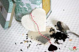Selfmade tea bag for valentine's day ♥