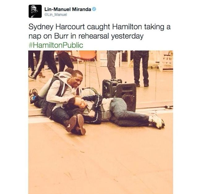 They are too cute - Leslie Odom Jr. And Lin-Manuel Miranda
