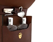 Vintage Glass FLASK Set with Travel Case: Glasses Flasks, Vintage Glasses, Flasks Sets